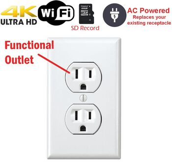 Battery Powered Outlet >> Secureguard 4k Battery Powered Functional Receptacle Outlet
